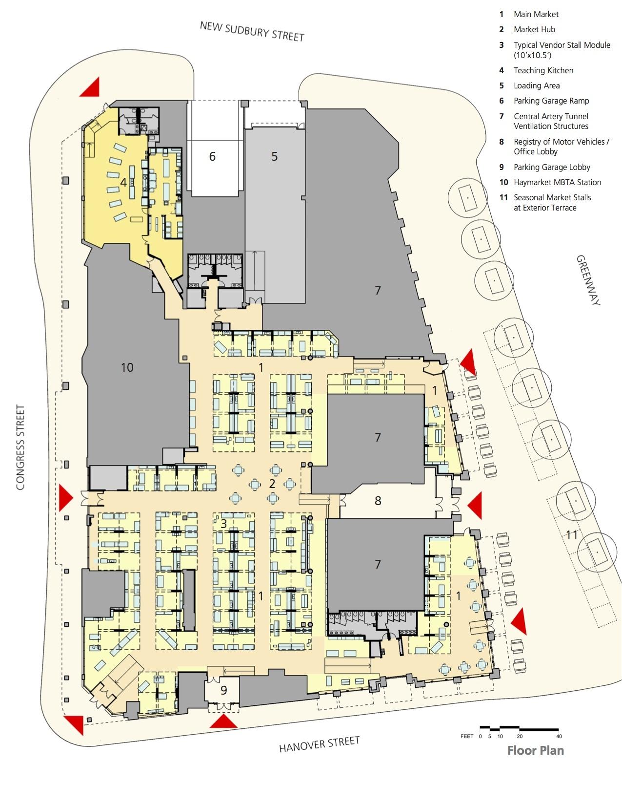 Teaching Kitchen Floor Plan Gallery Of Boston Public Market  Architerra  18