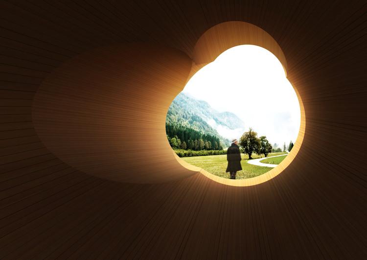 """7 pabellones ideales para dormir siesta en Jade Valley, China, """"Woodokan"""" por Hajima Yoshida, Japón. Imagen vía University of Southern California y el American Academy en China"""