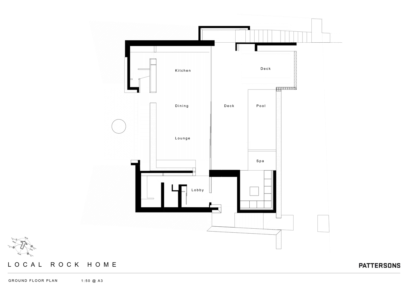local rock houseground floor plan - Rock House Plans