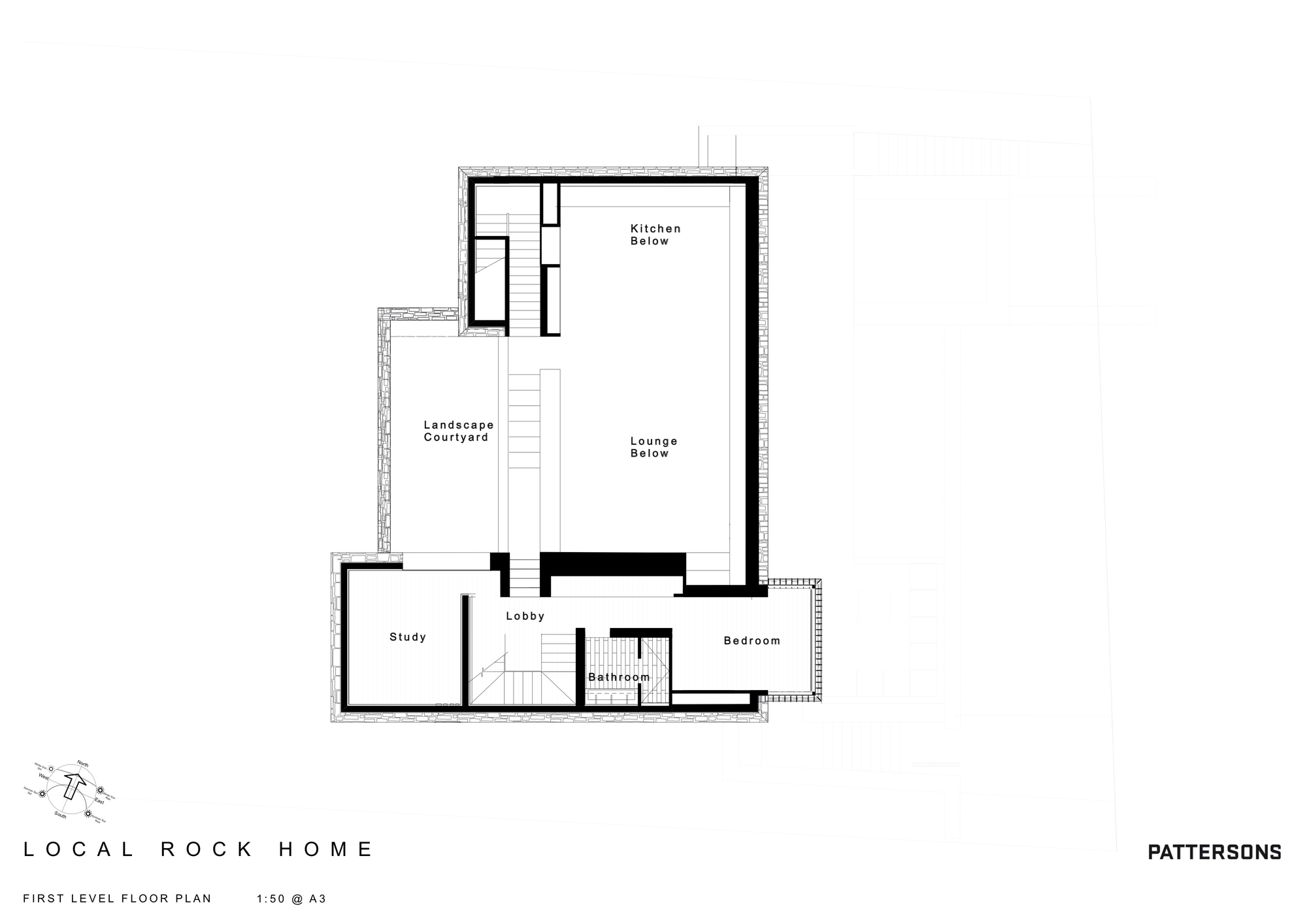 Galeria de local rock house pattersons 10 for Local house plans