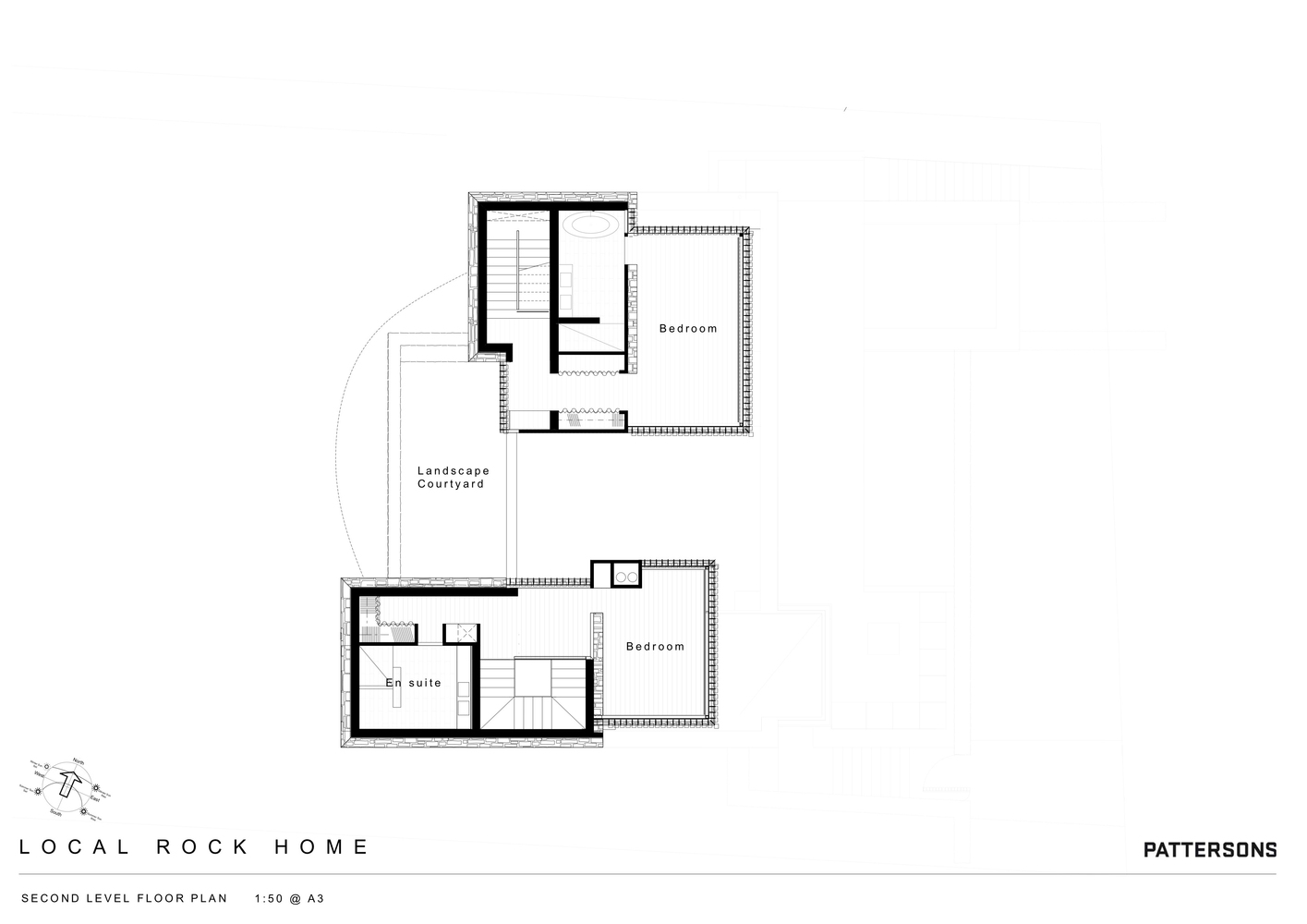 local rock housesecond floor plan - Rock House Plans