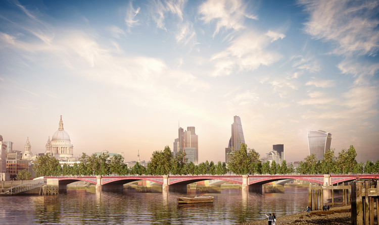 Allies and Morrison propõe alternativa para a polêmica  Garden Bridge de Heatherwick, Cortesia de Allies and Morrison