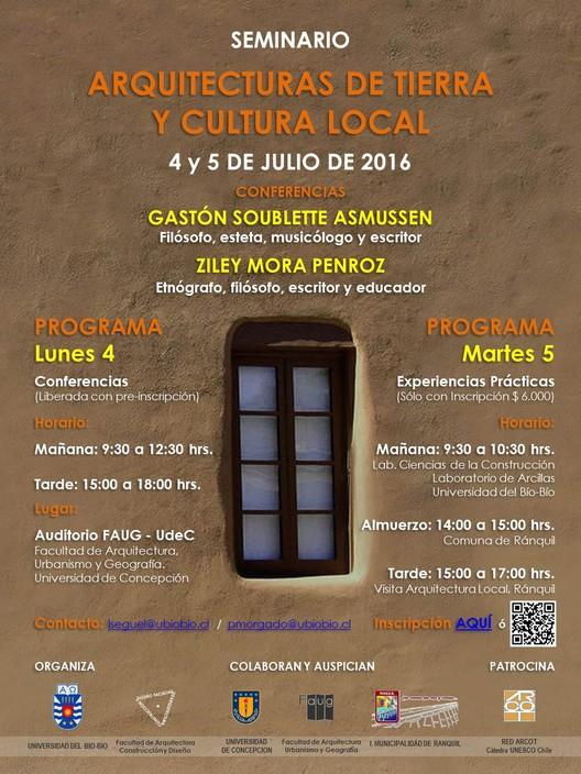 Seminario Arquitecturas de tierra y cultura local, Arqto. Rodrigo Pérez
