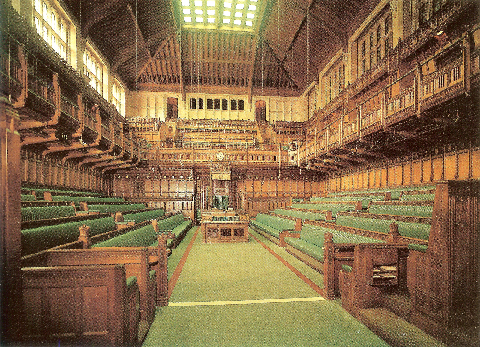 Houses Of Parliament Interior. House of Commons  Image Courtesy Burton Skira Inc AD Classics Palace Westminster Charles Barry Augustus