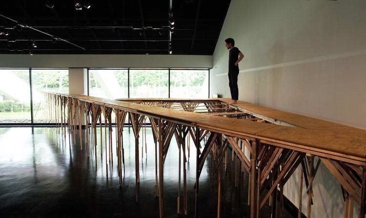 Walk on Water at 'Zero Meter Above Sea Level' Art Installation Exhibit by Ryo Yamada, Courtesy of Ryo Yamada