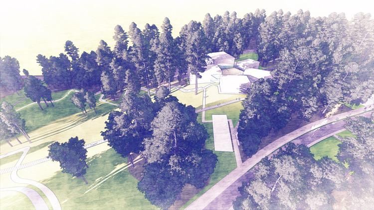 West 8 divulga projeto de um parque de esculturas na Duke University, © West 8
