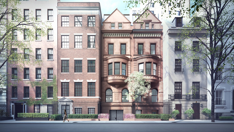 Herzog & de Meuron's Proposal to Transform Historic New York Townhouses Receives Approval , Courtesy of The New York City Landmarks Preservation Commission and Stephen Wang + Associates PLLC