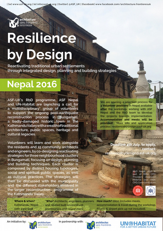 Resilience by Design Nepal 2016, Resilience by Design Nepal 2016 - Reactivating traditional urban settlements through integrated design, planning and building strategies