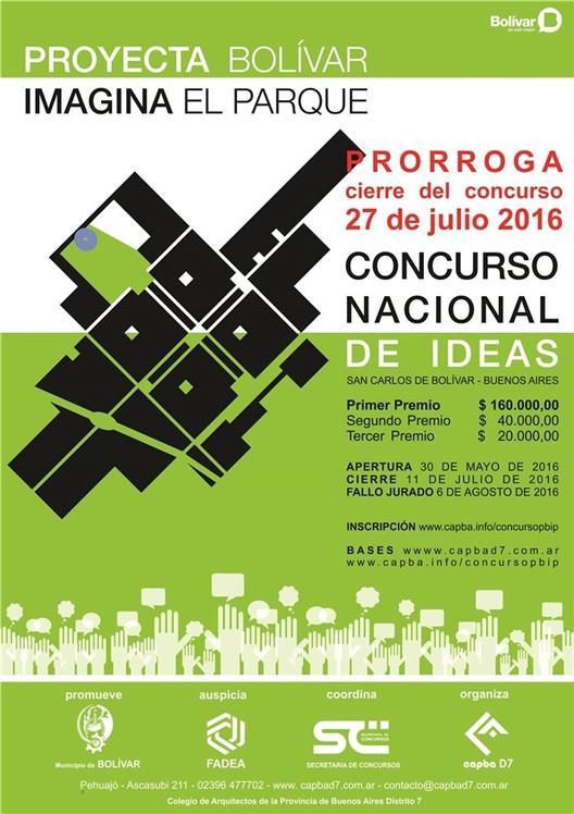 Concurso Nacional de Ideas: Proyectá Bolívar, Imaginá el Parque / Provincia de Bs.As., vía capbad7
