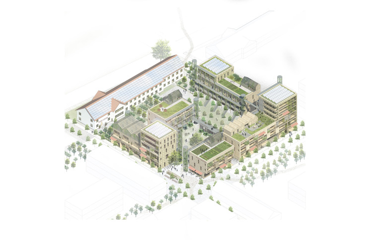 "Kjellander Sjöberg's Winning Design Provides Sustainable Urban Living in Malmö, Sweden, ""It Takes a Block"" Proposal. Image Courtesy of Kjellander Sjoberg"