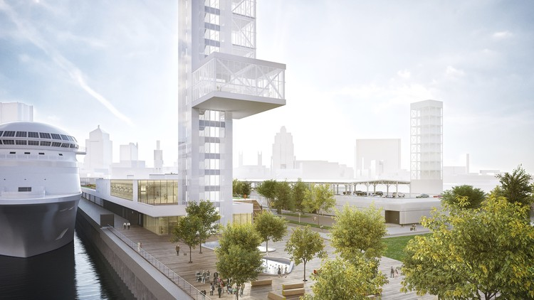 Provencher_Roy Unveil Plans for Montreal Port Terminal, Courtesy of Provencher_Roy