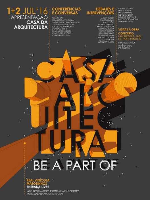 """Inscrições abertas para o evento """"Be a Part Of: Casa da Arquitectura"""""""