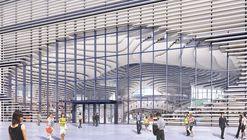 Finaliza la obra gruesa de la nueva biblioteca diseñada por MVRDV en Tianjin