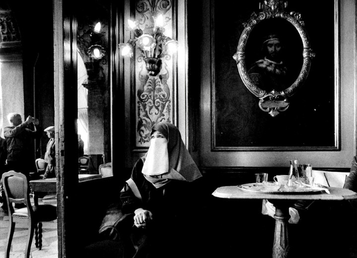 It's All in a Cup of Coffee (or, Indeed, Tea): Does Café Culture Embody the Idea of Europe?, Da Florian in Venice (2013). © Gianni Berengo Gardin. Image Courtesy of Caffe Florian