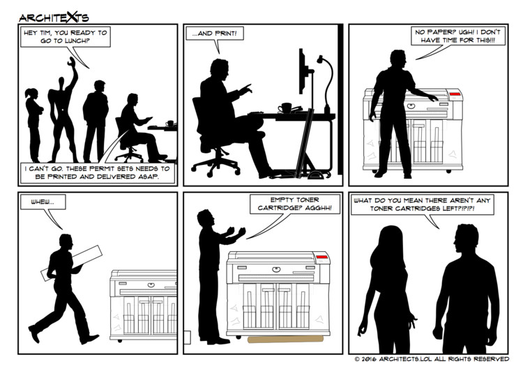 "Comic Break: ""Plotting Close To A Deadline"", © Architexts"