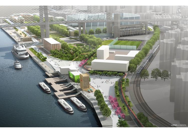 Agence Ter propõe parque ao longo do rio Huangpu em Xangai, Cortesia de Agence Ter