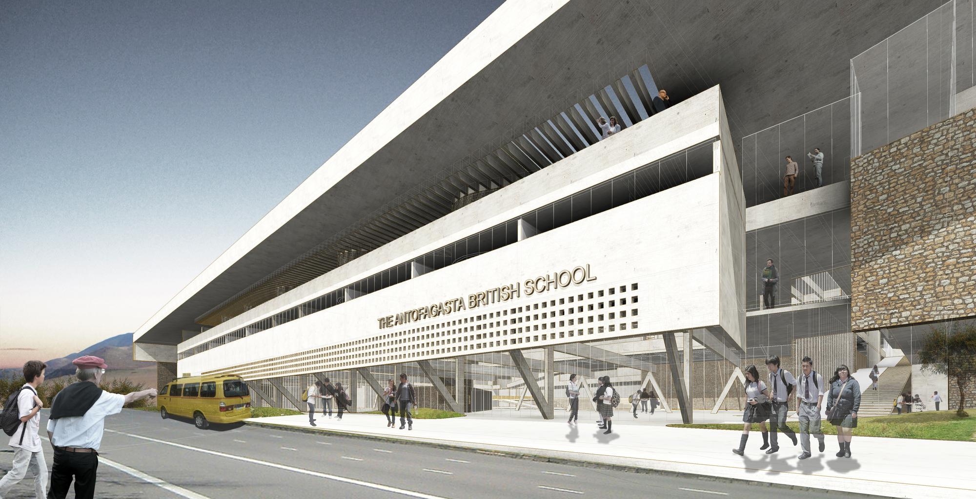 Murtinho+Raby Arquitectos y Araya Arquitectos, segundo lugar en diseño de The Antofagasta British School