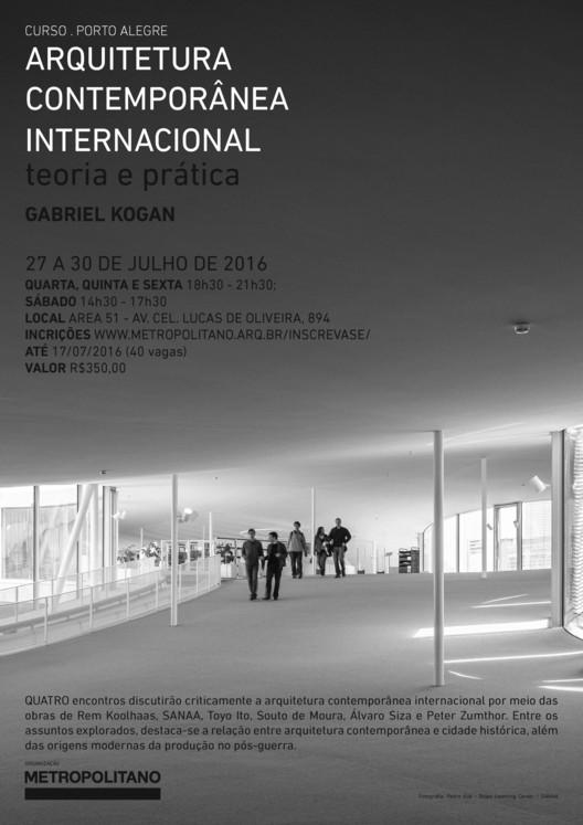 """Inscrições abertas para o curso """"Arquitetura Contemporânea Internacional"""" em Porto Alegre, Fotografia: Pedro Kok - Rolex Learning Center / SANAA"""