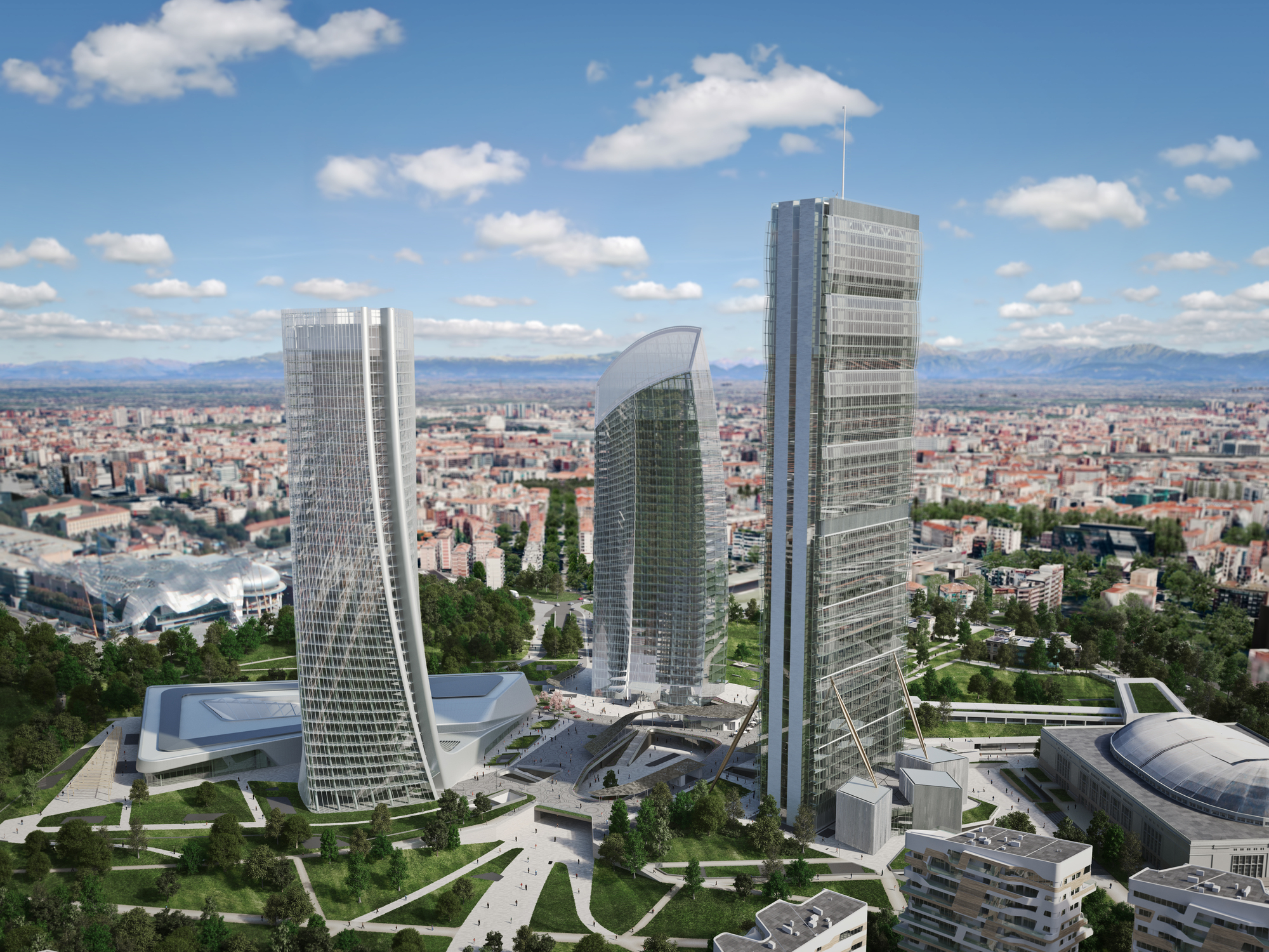 Zaha hadid architects 39 generali tower tops out in milan for Art design milano