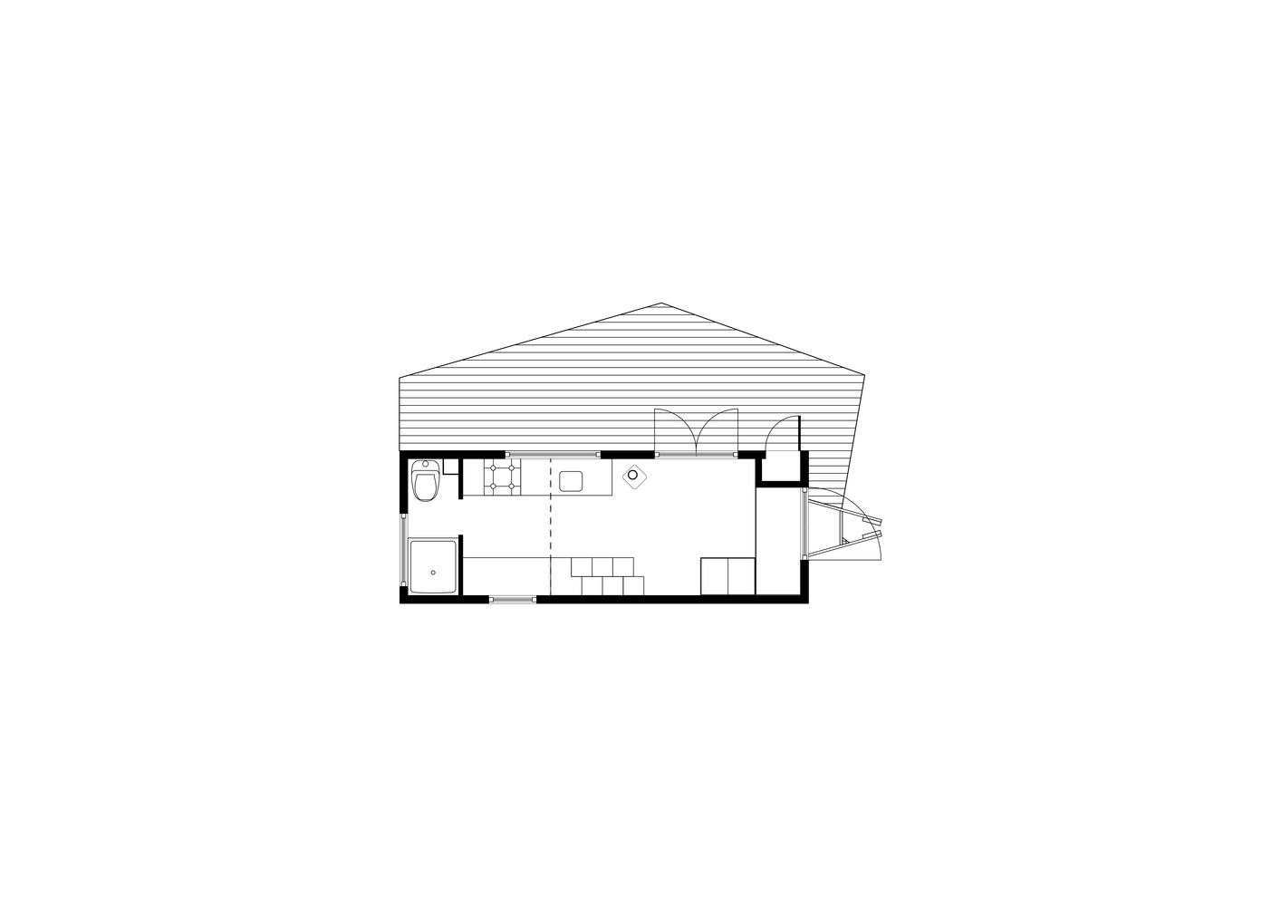 Gallery of Contemporary Tiny House / Walden Studio - 25 on small studio house plans, tiny guest cottage plans, tiny studio bathroom, tiny studio decorating, small space house plans, craft house plans, tiny chalet plans, passive solar house plans, tiny studio foundation,