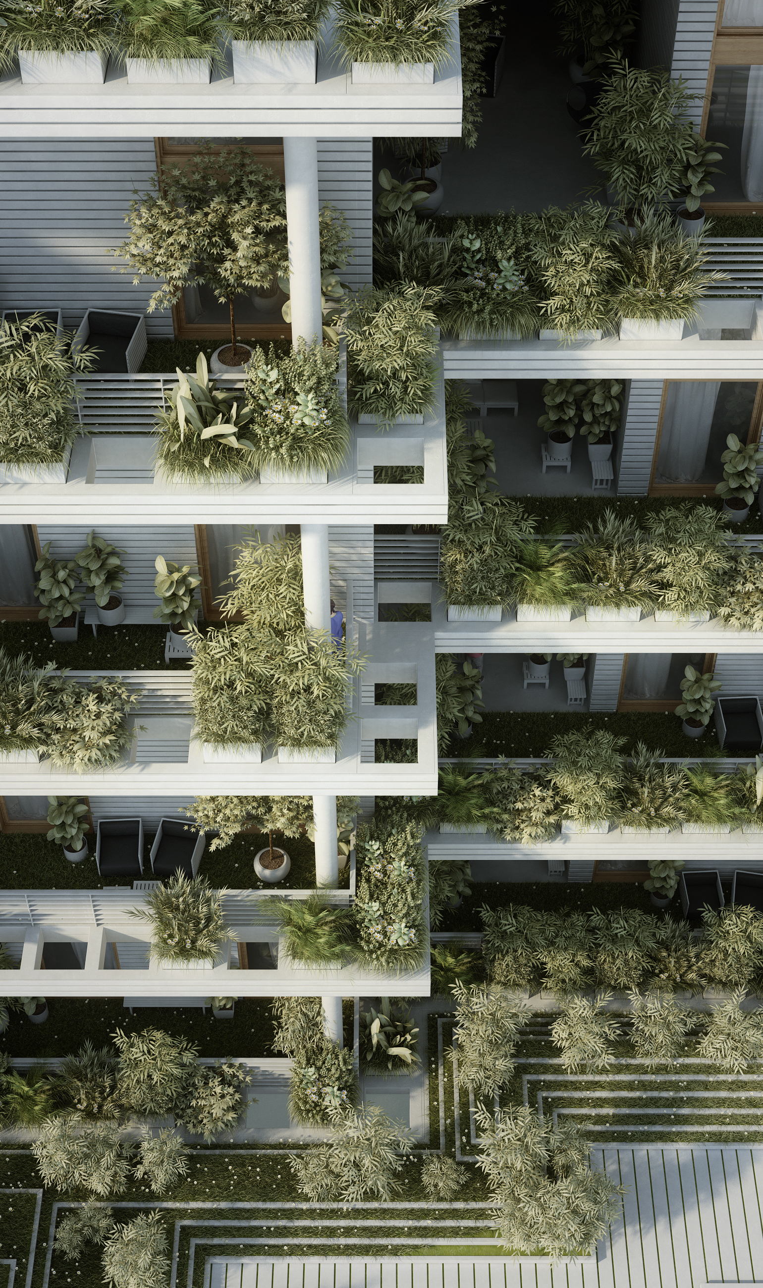 Gallery of penda designs sky villas with vertical gardens for Breeze landscape architects