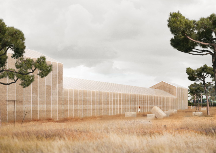 Georges Batzios Architects Propose Cultural Center Made Entirely of Straw , Courtesy of Georges Batzios Architects