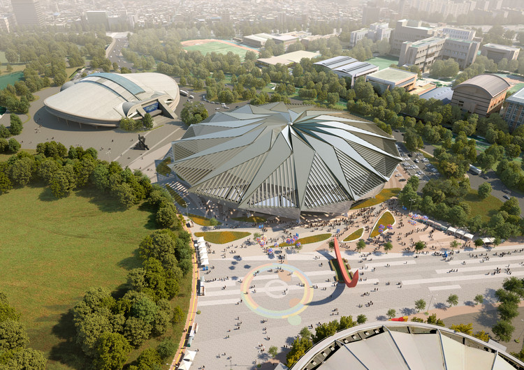 Tornado-Shaped K-Pop Concert Hall Wins Competition for Seoul's Olympic Arena Renovation , Courtesy of HAEAHN Architecture and H Architecture