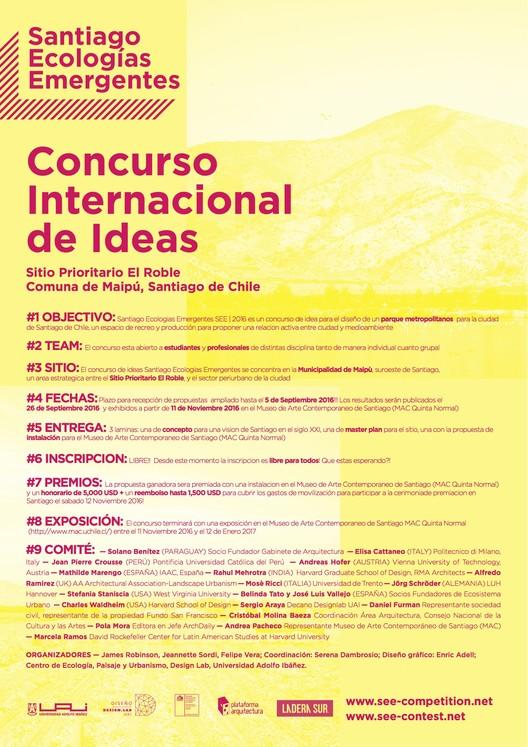 Concurso Internacional de Ideas SEE: Santiago Ecologías Emergentes [¡Actualizado!]