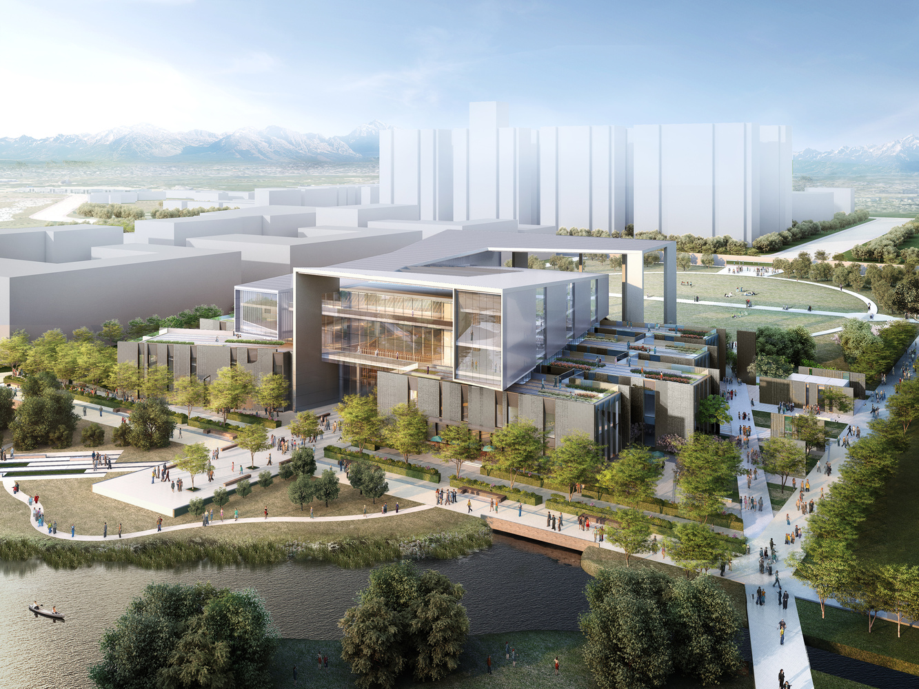 Winning Design Revealed For New College Of Architecture And Design In  China,Courtesy Of Moore