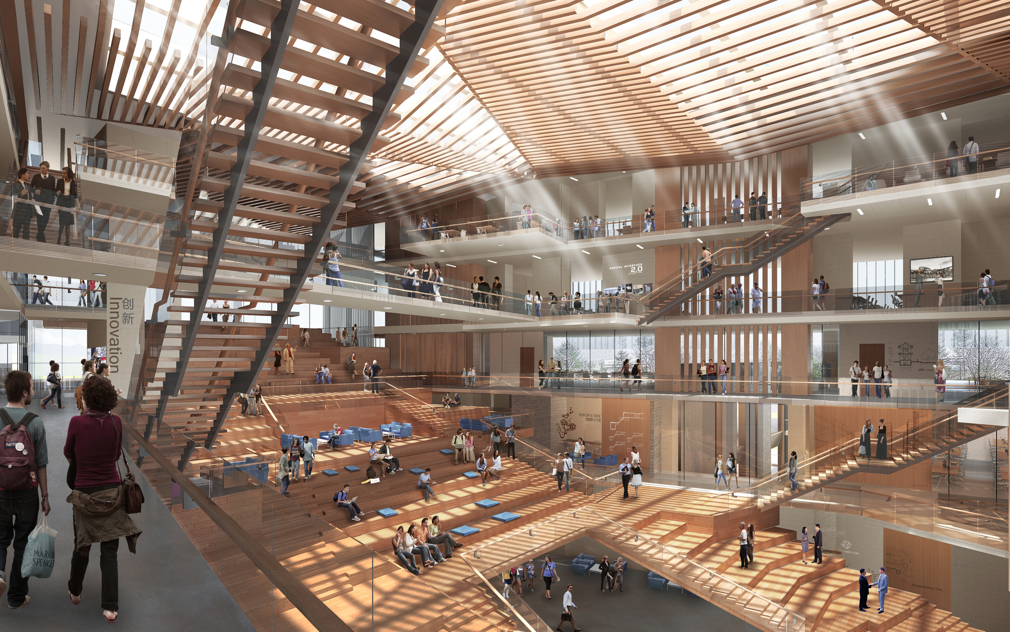 Gallery of winning design revealed for new college of for Architecture and design