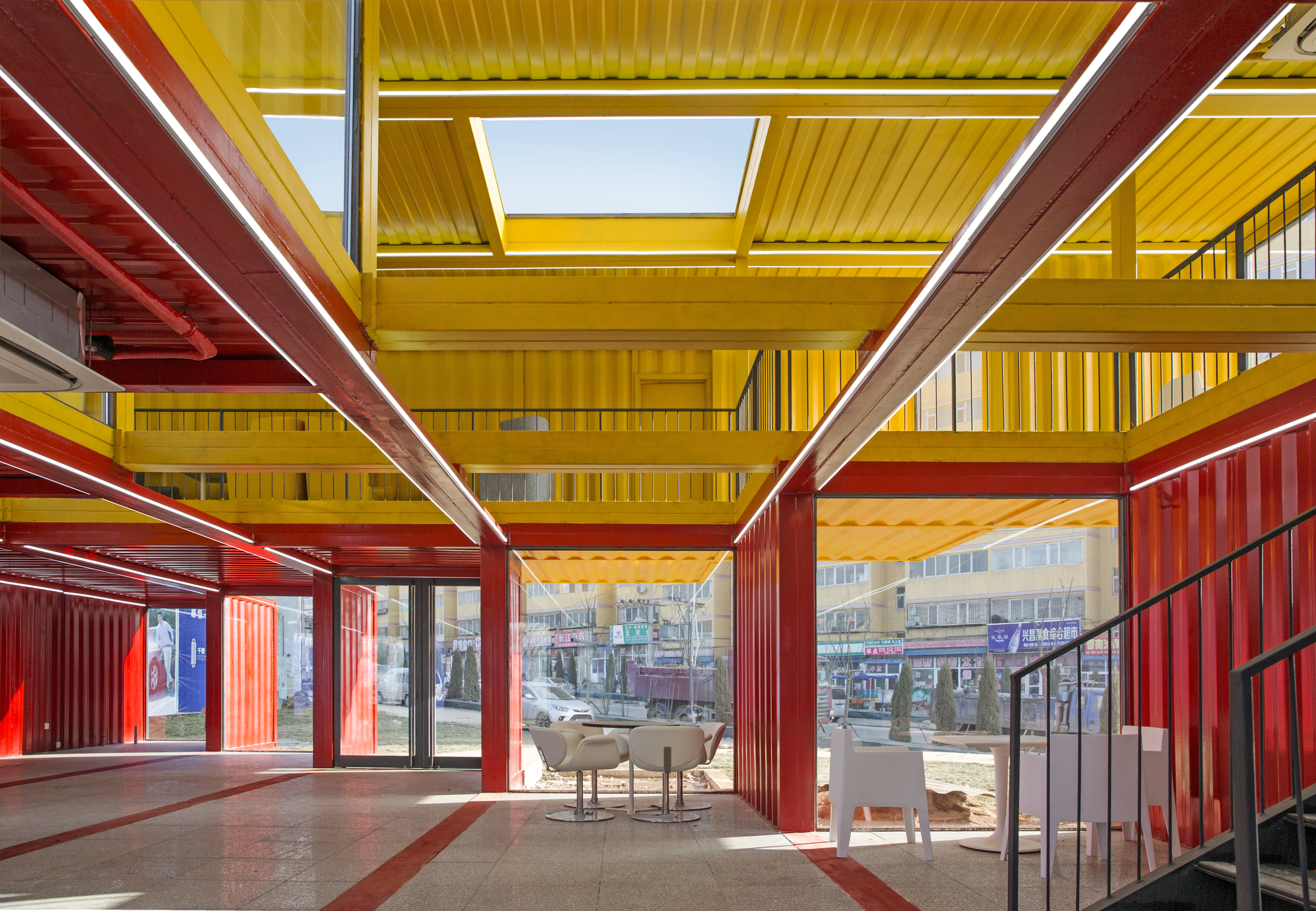 Gallery of container stack pavilion people 39 s for Architecture container