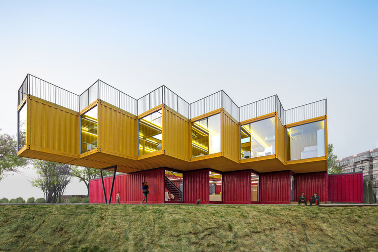 Container Stack Pavilion / People's Architecture, Courtesy of People's Architecture Office