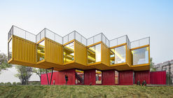 Container Stack Pavilion / People's Architecture