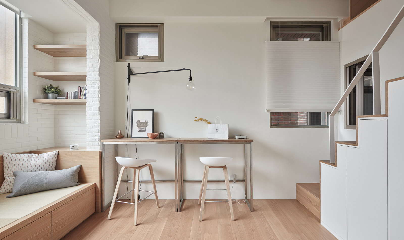 Gallery of 22m2 apartment in taiwan a little design 13 for Mezzanine sous combles
