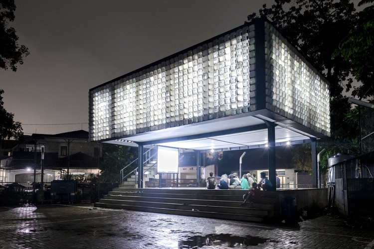 Bima microlibrary shau bandung archdaily for What does punch out mean in construction
