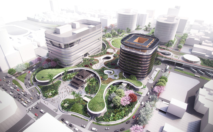 Mecanoo Reveals Plans for Massive Green Train Station in Taiwan, Courtesy of Mecanoo