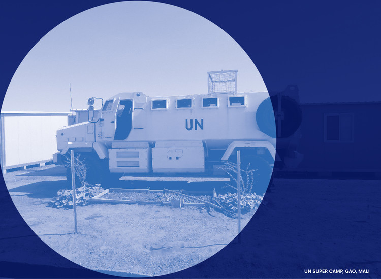BLUE: The Architecture of UN Peacekeeping, Reporting from Mali. Photo: Malkit Shoshan. Design: Irma Boom and Julia Neller. Image © Volume