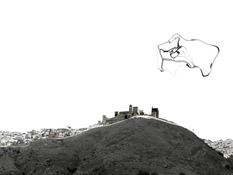 Arquitectos andaluces logran segundo lugar en concurso de nuevos espacios públicos del arrabal del castillo de Álora, Cortesía de Equipo Segundo Lugar