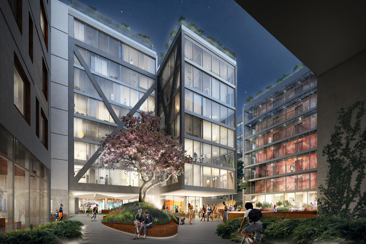 """ODA Unveils Plans for """"A City Within a City"""" in Brooklyn, New York, Courtesy of ODA New York"""