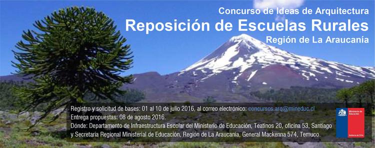 Concurso de Ideas Reposición Escuelas Rurales, Región de la Araucanía