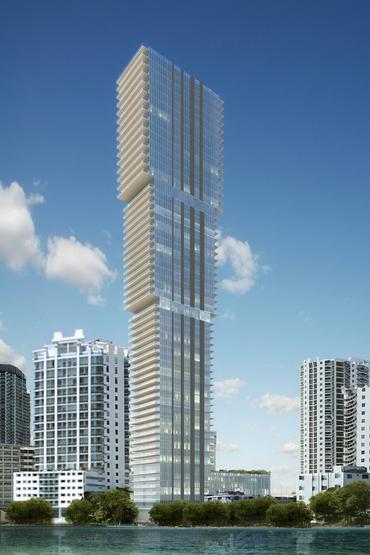 Arquitectonica Designs Three-Tier Residential Tower in Miami, Courtesy of Arquitectonica