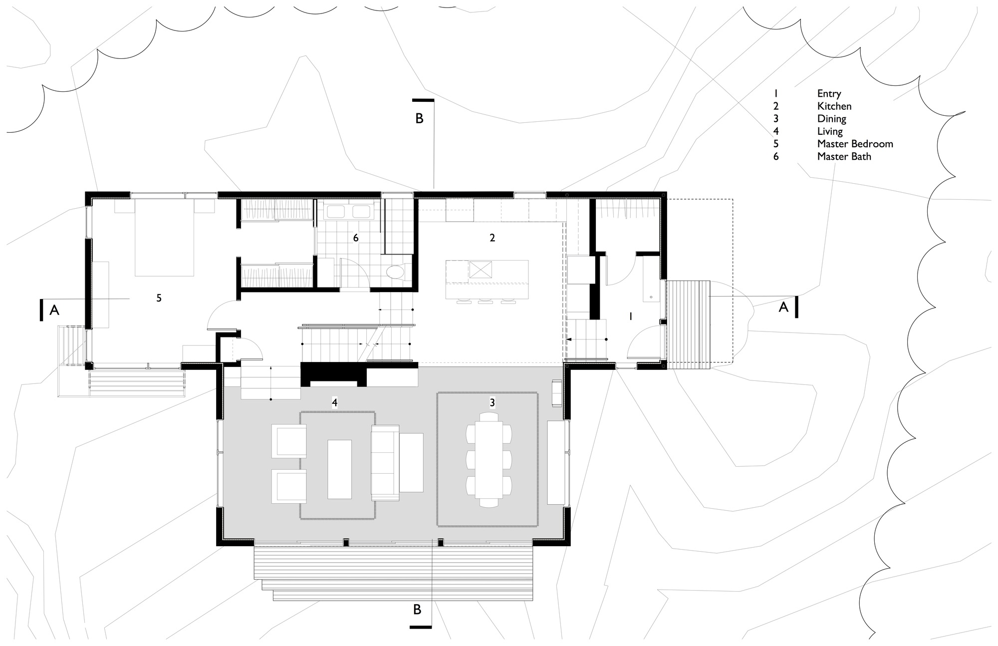 Gallery of lily pond house theodore theodore for Floor plans presentation