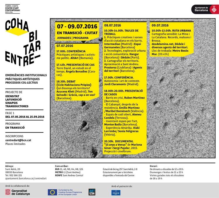 Jornadas 'Transición – Ciudad' en Barcelona, vía Fabra i Coats. Centro d'Art Contemporani
