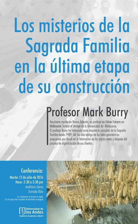 Conferencia: Los misterios de la Sagrada Familia en la última etapa de su construcción, Taller de Medios, Facultad Arquitectura y Diseño, Universidad de los Andes