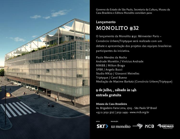 Lançamento Monolito#32: Réinventer Paris-Consórcio Urbem/Triptyque