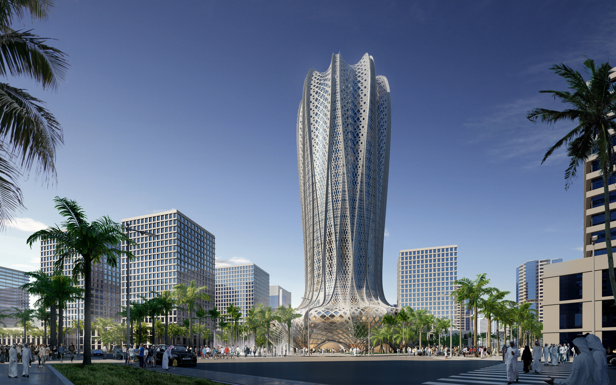 Zaha hadid architects to design hotel and residential for Architecture qatar
