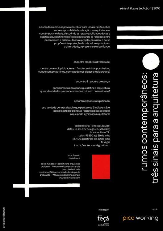 """Curso """"Rumos Contemporâneos: Três sinais para a arquitetura"""""""