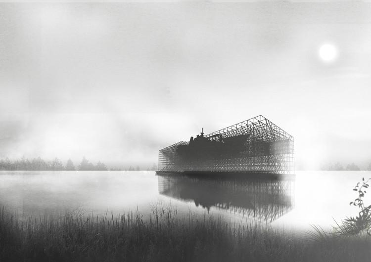 Museo de la construcción naval, gran ganador del Concurso Nacional de Proyectos de Título 2016, Cortesía de Emanuel Astete
