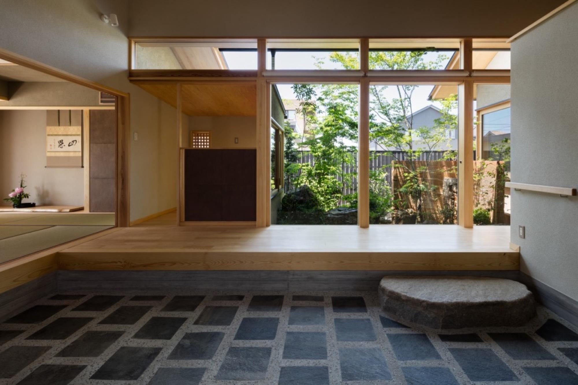 House With A Doma Salon Takashi Okuno Associates Archdaily