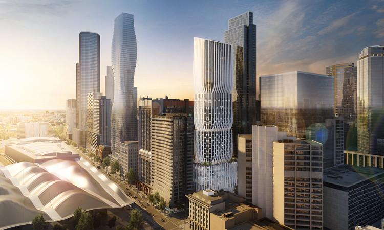 Zaha Hadid Architects presenta nuevas imágenes de su primer rascacielos en Melbourne, © Zaha Hadid Architects